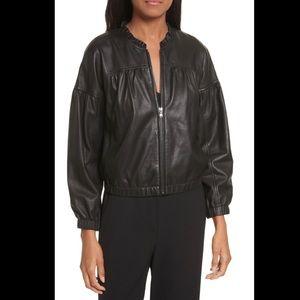 NWT Rebecca Taylor Leather bomber jacket size 0 J1